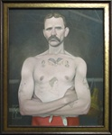 Kris Lewis Irish Boxer Original Painting