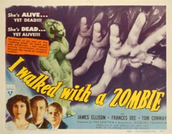 I Walked With a Zombie Original US Lobby Card