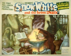 Snow White and the Seven Dwarfs Original US Lobby Card