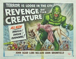Revenge Of The Creature Original US Lobby Card Set of 8