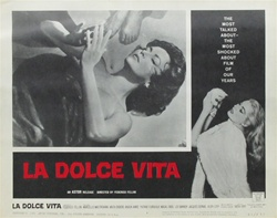 La Dolce Vita Original US Lobby Card Set of 8