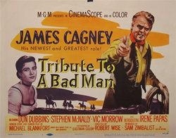 A Tribute To A Bad Man Original US Title Lobby Card