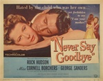 Never Say Goodbye Original US Title Lobby Card