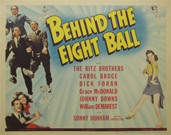 Behind The Eight Ball Original US Title Lobby Card