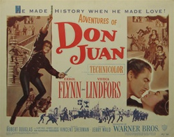 Adventures of Don Juan Original US Title Lobby Card