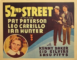 52nd Street Original US Title Lobby Card