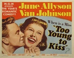 Too Young To Kiss Original US Title Lobby Card