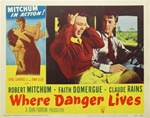 Where Danger Lives Original US Lobby Card