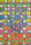 Peter Max Gloves Original Vintage Poster
