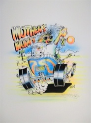 Stanley Mouse Mothers Worry 1 Silkscreen Airbrushed by Hand
