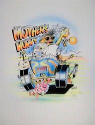Stanley Mouse Mothers Worry 2 Silkscreen Airbrushed by Hand