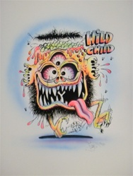 Stanley Mouse Wild Child 1 Silkscreen Airbrushed by Hand