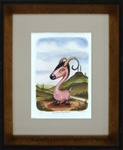 Scott Musgrove Speckled Dirt Goat Original Watercolor