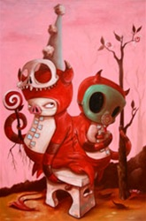 Kathie Olivas Parasitic Haze Original Painting