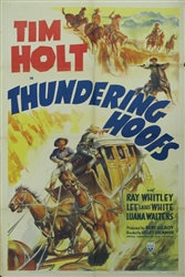 Thundering Hoofs Original US One Sheet