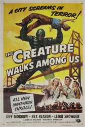 Creature Walks Among Us US Original One Sheet