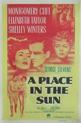 A Place in the Sun Original US One Sheet