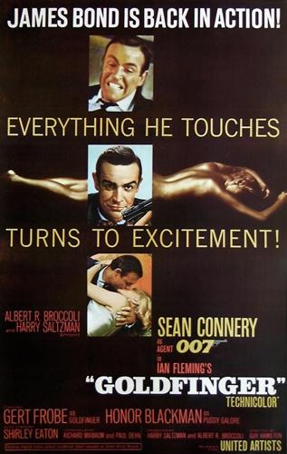 Goldfinger Original US One Sheet Vintage Movie Poster ...