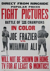 Joe Frazier Vs. Muhammad Ali Original US One Sheet