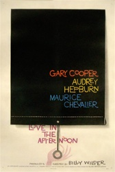 Love in the Afternoon Original US One Sheet