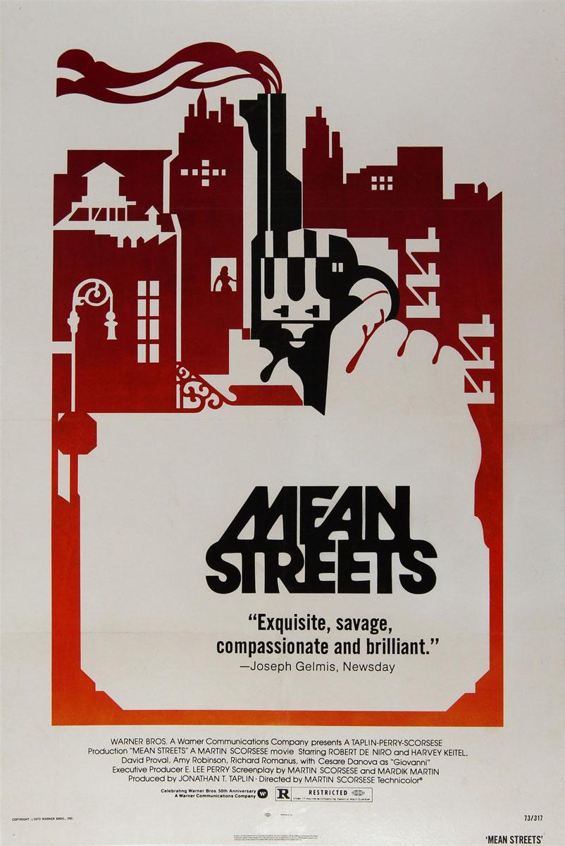 mean streets original us one sheet vintage movie posters robert de niro