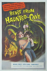Beast from Haunted Cave Original US One Sheet