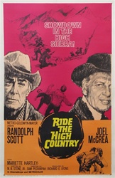 Ride the High Country Original US One Sheet