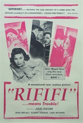Rififi Original US One Sheet