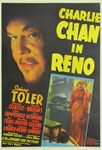 Charlie Chan In Reno Original US One Sheet