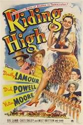 Riding High Original US One Sheet