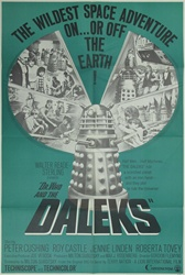 Dr. Who And The Daleks Original US One Sheet