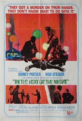 In The Heat Of The Night Original US One Sheet