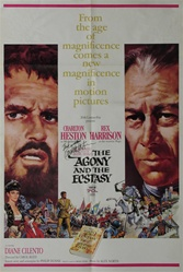 The Agony And The Ecstasy Original US One Sheet