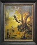 Michael Page Yet Another Attack at Dust Original Painting