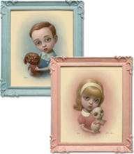 Marion Peck Girl With A Kitten and Boy With A Puppy Limited Edition Prints
