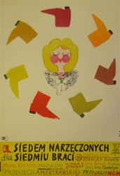 Polish Movie Poster Seven Brides For Seven Brothers