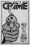 Crime With The Dils Original Punk Concert Poster