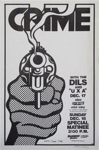 Crime With The Dils Original Punk Concert Poster Original ...