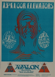 13th Floor Elevators Original Concert Poster