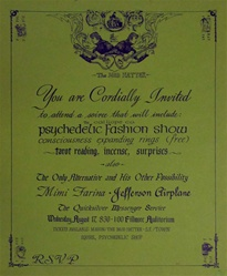 Psychedelic Fashion Show Original Concert Poster