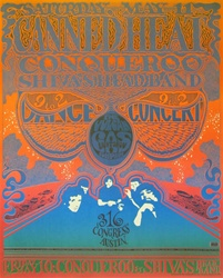Canned Heat Original Texas Concert Poster