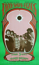Blood Sweat and Tears Original Concert Poster