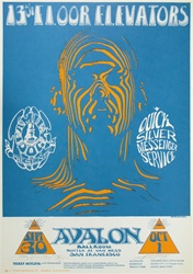 13th Floor Elevators/ Quicksilver Messenger Service Original Concert Poster