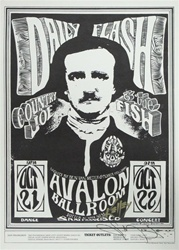 Country Joe And The Fish And Daily Flash Original Concert Poster