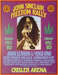 John Sinclair Freedom Rally with John Lennon Original Concert Poster