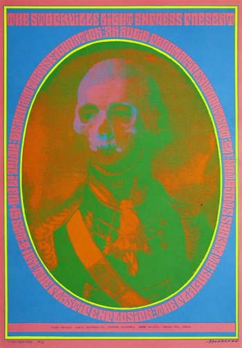 VICTOR MOSCOSO DEATH AND TRANSFIGURATION ORIGINAL 1967 ROCK CONCERT POSTER