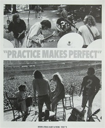 Crosby, Stills, Nash and Young Practice Makes Perfect Tour Poster