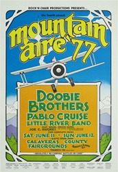 Doobie Brothers, Pablo Cruise and Little River Band Original Concert Poster