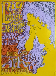 Big Brother And The Holding Company At The Ark Original Concert Poster