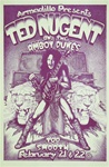 Ted Nugent at the Armadillo World Headquarters Original Concert Poster